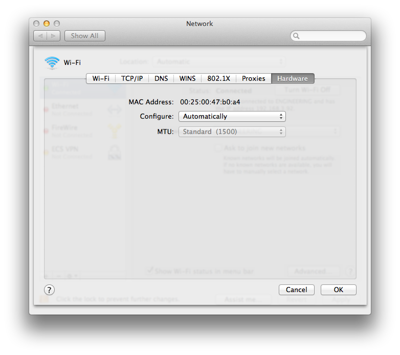how to search for computers on a network mac