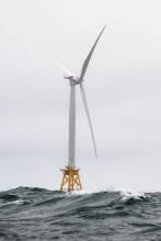 wind turbine at sea