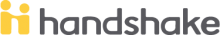 logo for the handshake job search software now used by Engineering Career Development and Experiential Learning