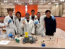The Squid Squad with their Chem-E-Car