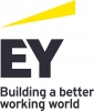 "Wordmark that reads ""Ernst and Young: Buidling a better working world"""