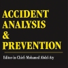 "black background with yellow text reading ""accident analysis and prevention"""