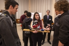 Best year-long team: Convertible snowboard to ski boot prototype from the Mechanical and Industrial Engineering Department's Fall Senior Design Competition