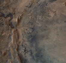 remains of an ancient delta in Mars' Jezero Crater